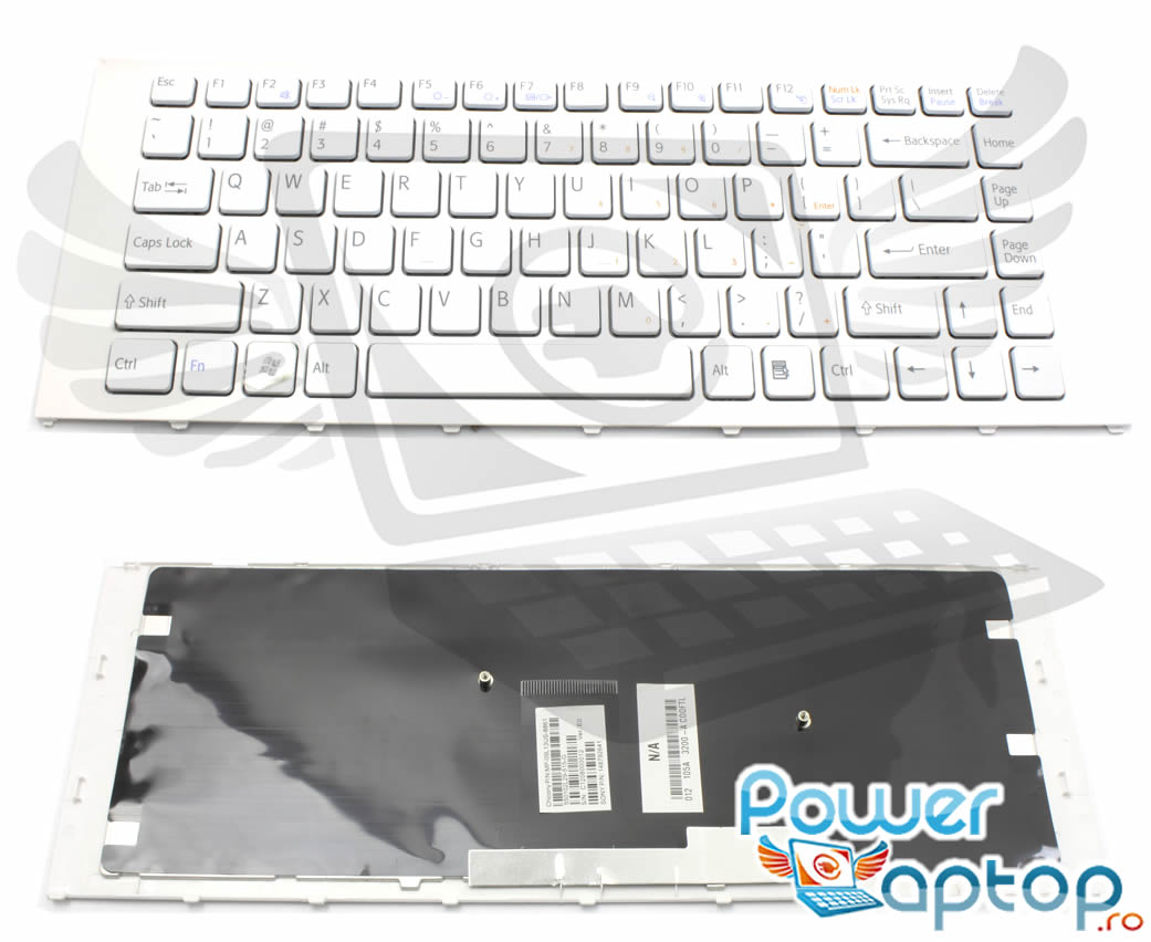Tastatura Sony Vaio VPC EA3PGX alba imagine powerlaptop.ro 2021
