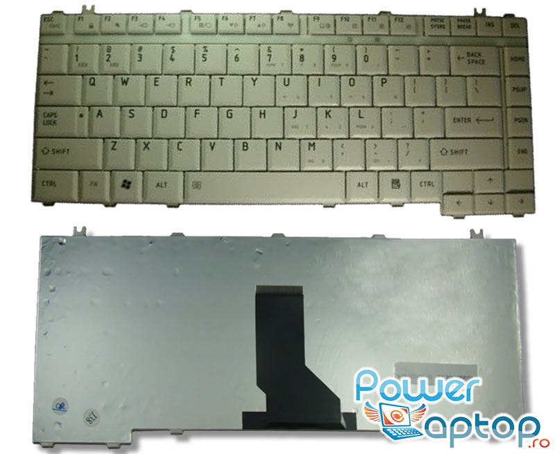 Tastatura Toshiba Qosmio F15 alba imagine