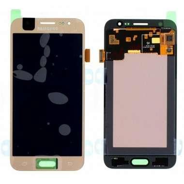 Ansamblu Display LCD + Touchscreen Samsung Galaxy J5 2015 J500 Display Original Service Pack Gold Auriu . Ecran + Digitizer Samsung Galaxy J5 2015 J500 Display Original Service Pack Gold Auriu