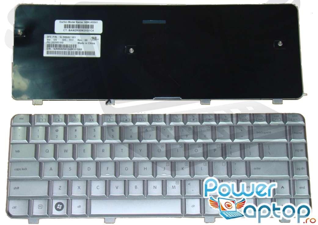 Tastatura HP Pavilion DV4Z 1000 argintie imagine powerlaptop.ro 2021