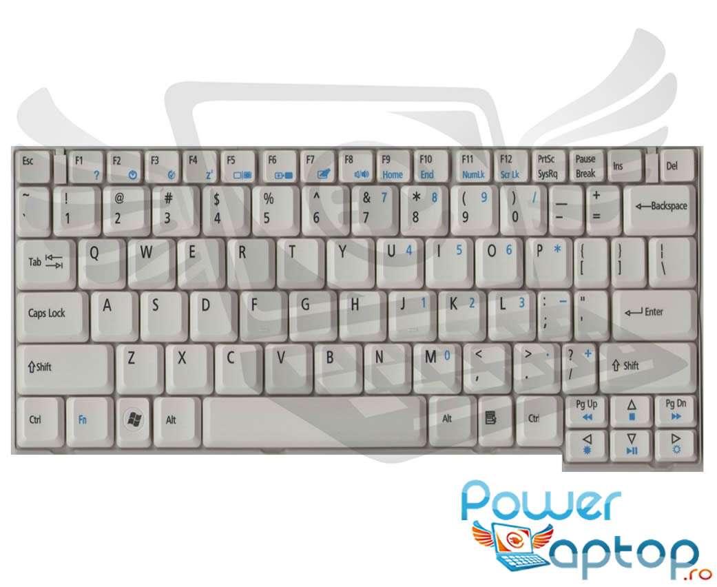 Tastatura Acer TravelMate 6293 alba imagine powerlaptop.ro 2021