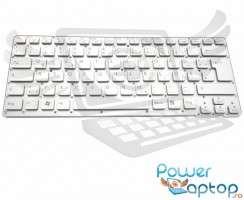Tastatura Sony Vaio VPCCA4S1E D argintie iluminata. Keyboard Sony Vaio VPCCA4S1E D. Tastaturi laptop Sony Vaio VPCCA4S1E D. Tastatura notebook Sony Vaio VPCCA4S1E D