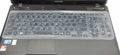 Folie Protectie Tastatura Laptop Silicon Transparenta 36 x 13 cm