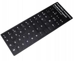 Sticker tastatura laptop layout Frantuzesc FR negru. Sticker taste laptop layout Frantuzesc FR negru