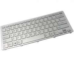 Tastatura Sony D13B06601877 argintie iluminata backlit. Keyboard Sony D13B06601877 argintie. Tastaturi laptop Sony D13B06601877 argintie. Tastatura notebook Sony D13B06601877 argintie