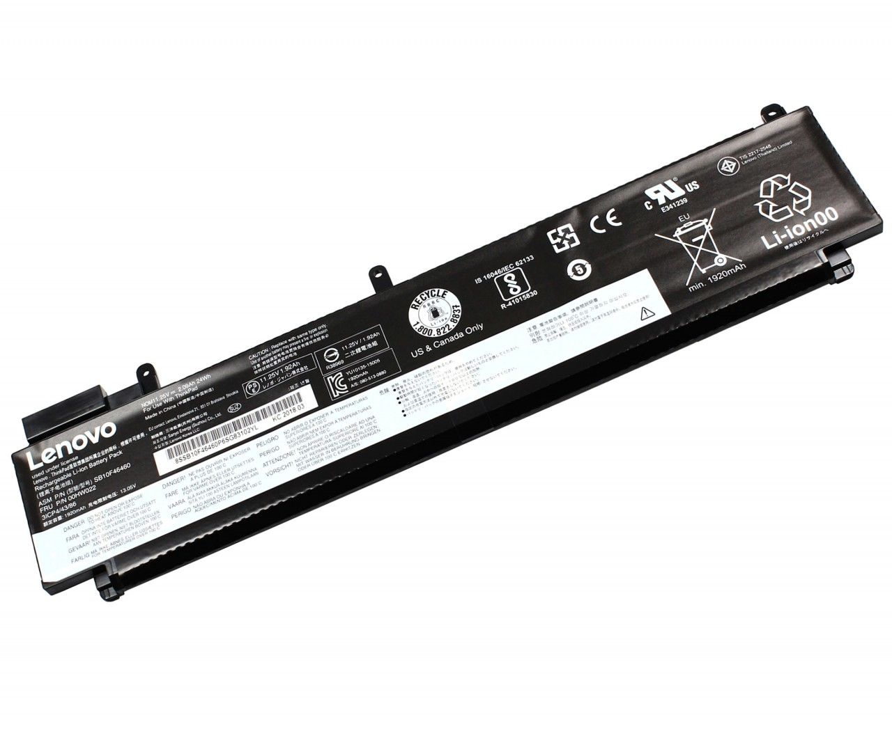 Baterie Lenovo ThinkPad T460S Originala 24Wh imagine powerlaptop.ro 2021