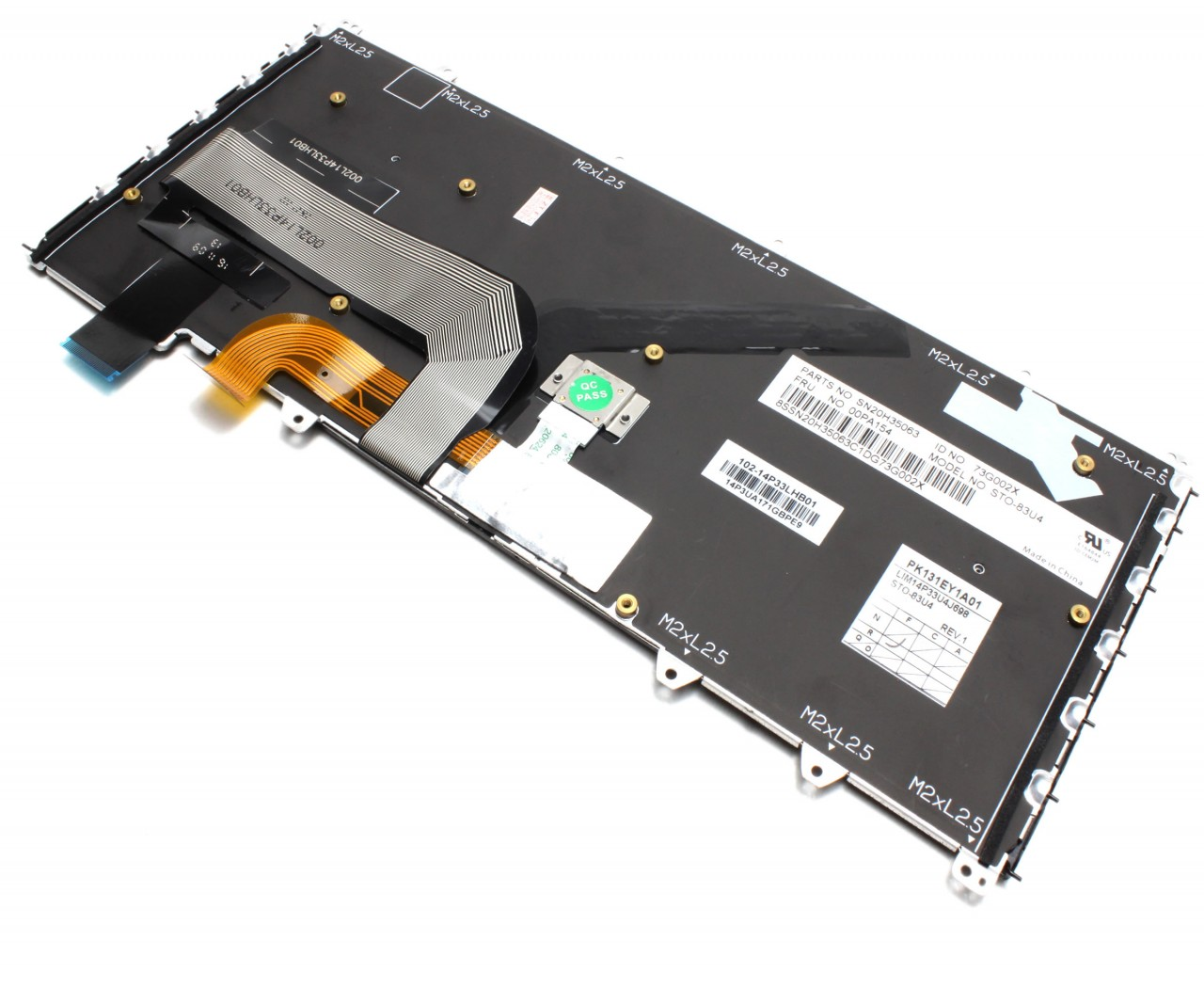 Tastatura Lenovo 14P3UA171GBPE9 neagra cu rama argintie iluminata backlit imagine powerlaptop.ro 2021