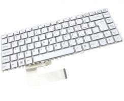 Tastatura Sony Vaio VGN NW275 alba. Keyboard Sony Vaio VGN NW275. Tastaturi laptop Sony Vaio VGN NW275. Tastatura notebook Sony Vaio VGN NW275