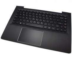 Tastatura Lenovo IdeaPad U31-70 Neagra cu Palmrest negru iluminata backlit. Keyboard Lenovo IdeaPad U31-70 Neagra cu Palmrest negru. Tastaturi laptop Lenovo IdeaPad U31-70 Neagra cu Palmrest negru. Tastatura notebook Lenovo IdeaPad U31-70 Neagra cu Palmrest negru