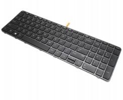 Tastatura HP HPM14N5 Nragra cu rama neagra iluminata backlit. Keyboard HP HPM14N5 Nragra cu rama neagra. Tastaturi laptop HP HPM14N5 Nragra cu rama neagra. Tastatura notebook HP HPM14N5 Nragra cu rama neagra