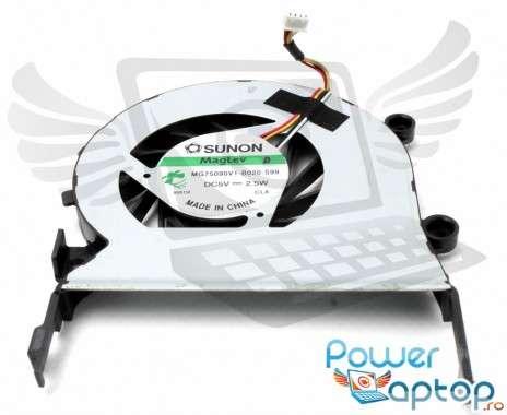 Cooler laptop Acer Aspire 5553G Mufa 4 pini. Ventilator procesor Acer Aspire 5553G. Sistem racire laptop Acer Aspire 5553G