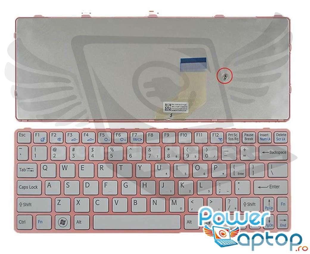 Tastatura Sony Vaio SVE11115ENW Rama roz imagine