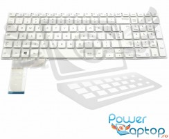 Tastatura Samsung  370R5E alba. Keyboard Samsung  370R5E. Tastaturi laptop Samsung  370R5E. Tastatura notebook Samsung  370R5E