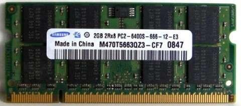 Memorie Laptop Samsung 2GB DDR2 800 MHz
