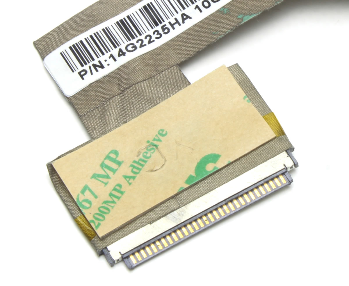 Cablu video LVDS Asus Eee PC 1005 Part Number 14G2215HA10G97J01968 imagine powerlaptop.ro 2021