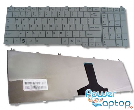 Tastatura Toshiba Satellite L750 argintie. Keyboard Toshiba Satellite L750 argintie. Tastaturi laptop Toshiba Satellite L750 argintie. Tastatura notebook Toshiba Satellite L750 argintie