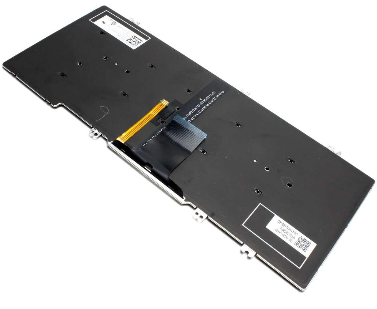Tastatura Dell Latitude 7389 iluminata layout US fara rama enter mic imagine powerlaptop.ro 2021