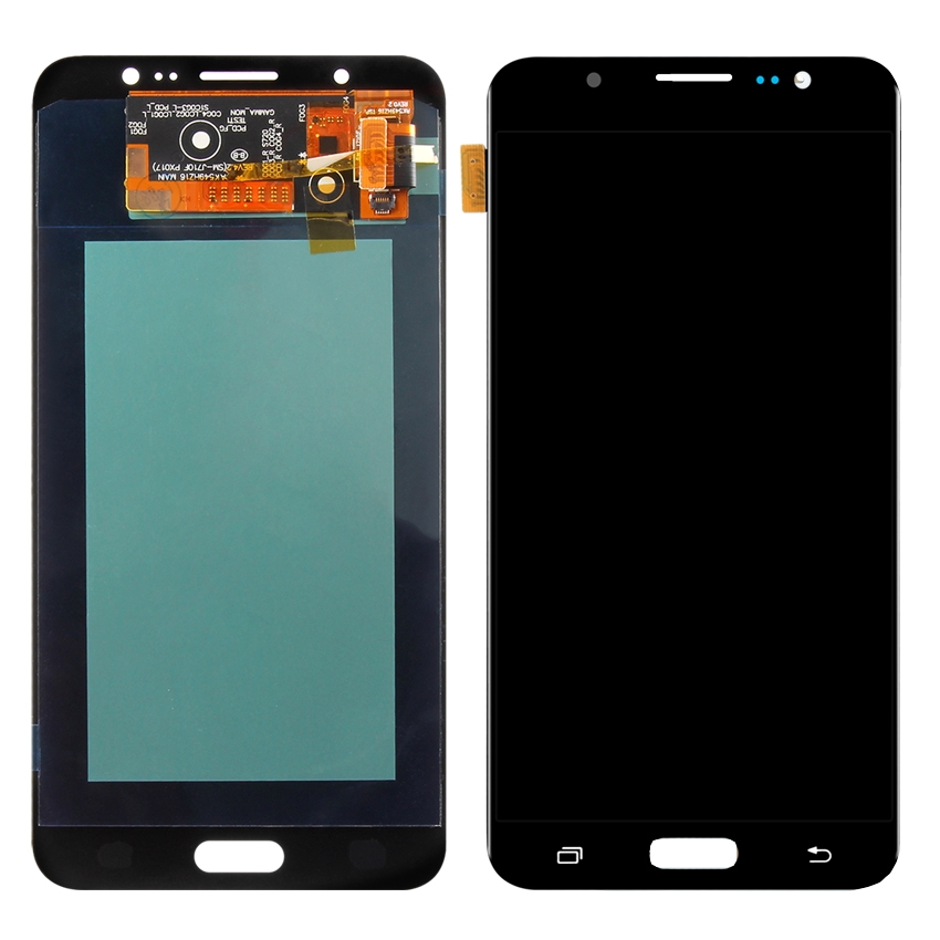 Display Samsung Galaxy J7 2016 J710 Display OLED AAA Black Negru imagine powerlaptop.ro 2021