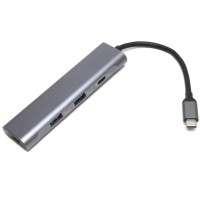 Hub USB Type C cu port HDMI, 2 porturi USB 3.0 si 1 port USB-C 3.0 Aluminiu