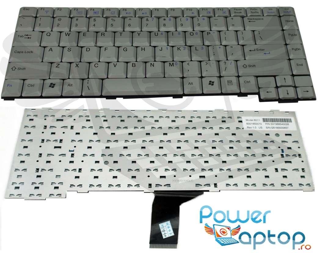 Tastatura Fujitsu Siemens Amilo K7610 argintie imagine powerlaptop.ro 2021