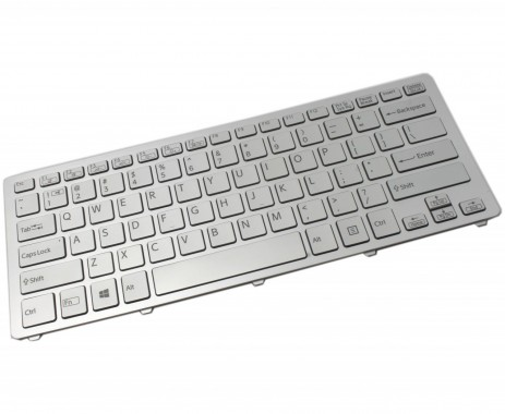 Tastatura Sony 9Z.NABBQ.401 argintie iluminata backlit. Keyboard Sony 9Z.NABBQ.401 argintie. Tastaturi laptop Sony 9Z.NABBQ.401 argintie. Tastatura notebook Sony 9Z.NABBQ.401 argintie
