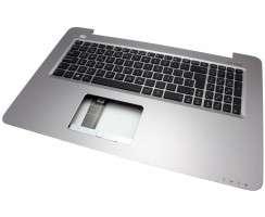 Tastatura Asus R753UB neagra cu Palmrest argintiu. Keyboard Asus R753UB neagra cu Palmrest argintiu. Tastaturi laptop Asus R753UB neagra cu Palmrest argintiu. Tastatura notebook Asus R753UB neagra cu Palmrest argintiu