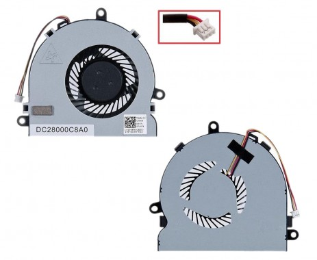 Cooler laptop Dell Inspiron 3521. Ventilator procesor Dell Inspiron 3521. Sistem racire laptop Dell Inspiron 3521