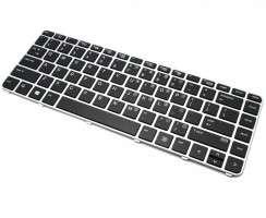 Tastatura HP EliteBook 745 G3 Neagra cu Rama Argintie. Keyboard HP EliteBook 745 G3 Neagra cu Rama Argintie. Tastaturi laptop HP EliteBook 745 G3 Neagra cu Rama Argintie. Tastatura notebook HP EliteBook 745 G3 Neagra cu Rama Argintie