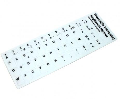 Sticker tastatura laptop layout Frantuzesc FR alb . Sticker taste laptop layout Frantuzesc FR alb