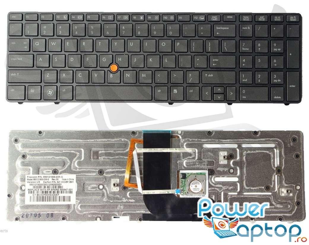 Tastatura HP 9Z.N6GSF.401 iluminata backlit imagine powerlaptop.ro 2021