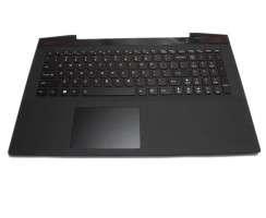 Tastatura Lenovo  Y50 80 neagra cu Palmrest negru iluminata backlit