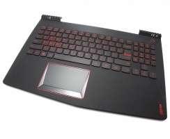 Tastatura Lenovo  5CB0N00205 neagra cu Palmrest negru iluminata backlit. Keyboard Lenovo  5CB0N00205 neagra cu Palmrest negru. Tastaturi laptop Lenovo  5CB0N00205 neagra cu Palmrest negru. Tastatura notebook Lenovo  5CB0N00205 neagra cu Palmrest negru