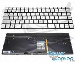 Tastatura HP Spectre x360 13AC050CA argintie iluminata backlit. Keyboard HP Spectre x360 13AC050CA argintie. Tastaturi laptop HP Spectre x360 13AC050CA argintie. Tastatura notebook HP Spectre x360 13AC050CA argintie