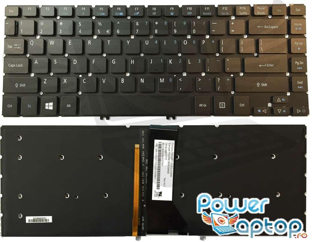 Tastatura Gateway NV47H64C iluminata backlit imagine powerlaptop.ro 2021