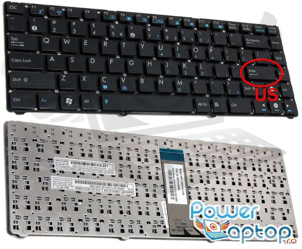 Tastatura Asus Eee PC 1201HAB layout US fara rama enter mic imagine