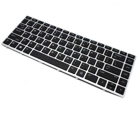 Tastatura HP ProBook 430 G5 Neagra cu Rama Argintie. Keyboard HP ProBook 430 G5 Neagra cu Rama Argintie. Tastaturi laptop HP ProBook 430 G5 Neagra cu Rama Argintie. Tastatura notebook HP ProBook 430 G5 Neagra cu Rama Argintie