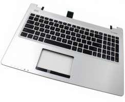 Tastatura Asus  9Z.N9DSU.001 neagra cu Palmrest argintiu. Keyboard Asus  9Z.N9DSU.001 neagra cu Palmrest argintiu. Tastaturi laptop Asus  9Z.N9DSU.001 neagra cu Palmrest argintiu. Tastatura notebook Asus  9Z.N9DSU.001 neagra cu Palmrest argintiu