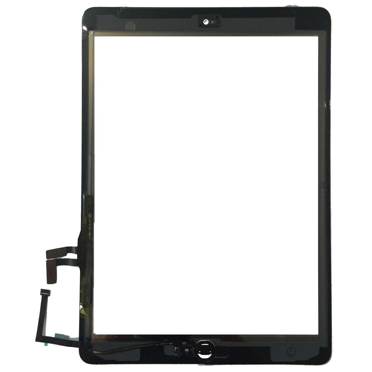 Touchscreen Digitizer Apple iPad 5 A1822 cu buton home si adeziv Alb Geam Sticla Tableta imagine