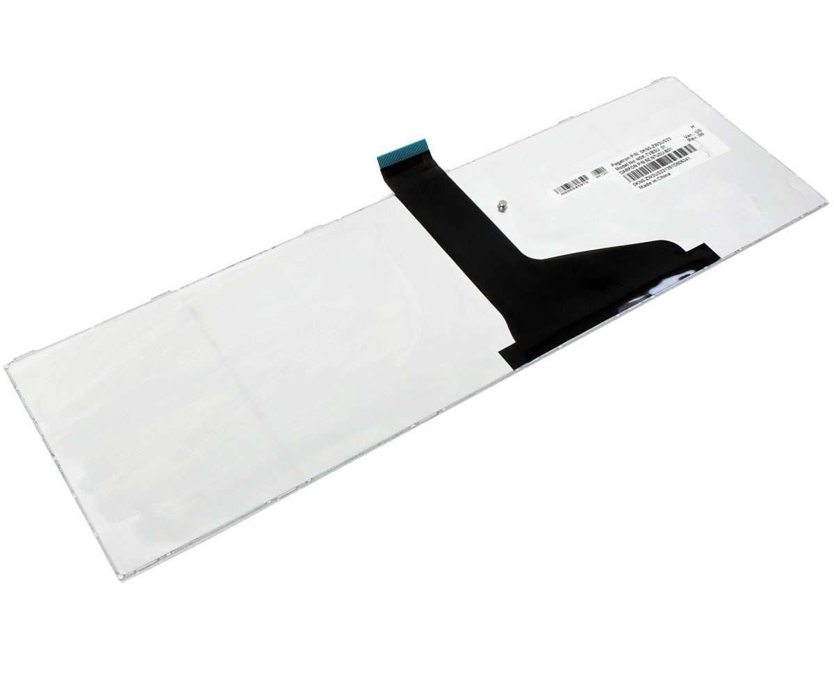 Tastatura Toshiba Satellite C855D Alba imagine