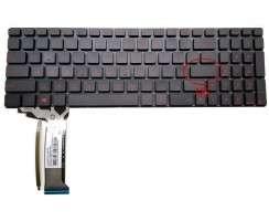 Tastatura Asus  G551JW neagra iluminata. Keyboard Asus  G551JW. Tastaturi laptop Asus  G551JW. Tastatura notebook Asus  G551JW