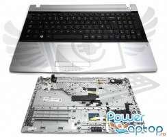 Tastatura Samsung  RV515 neagra cu Palmrest argintiu. Keyboard Samsung  RV515 neagra cu Palmrest argintiu. Tastaturi laptop Samsung  RV515 neagra cu Palmrest argintiu. Tastatura notebook Samsung  RV515 neagra cu Palmrest argintiu