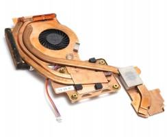 Cooler laptop Lenovo ThinkPad W500 cu heatpipe. Ventilator procesor Lenovo ThinkPad W500. Sistem racire laptop Lenovo ThinkPad W500