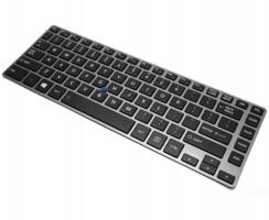 Tastatura Toshiba Tecra Z40-A Neagra iluminata backlit. Keyboard Toshiba Tecra Z40-A Neagra. Tastaturi laptop Toshiba Tecra Z40-A Neagra. Tastatura notebook Toshiba Tecra Z40-A Neagra