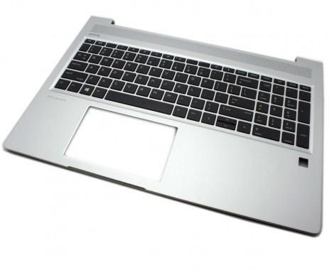 Tastatura  Neagra cu Palmrest Argintiu