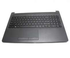 Tastatura HP 15-da0129nq neagra cu Palmrest negru. Keyboard HP 15-da0129nq neagra cu Palmrest negru. Tastaturi laptop HP 15-da0129nq neagra cu Palmrest negru. Tastatura notebook HP 15-da0129nq neagra cu Palmrest negru