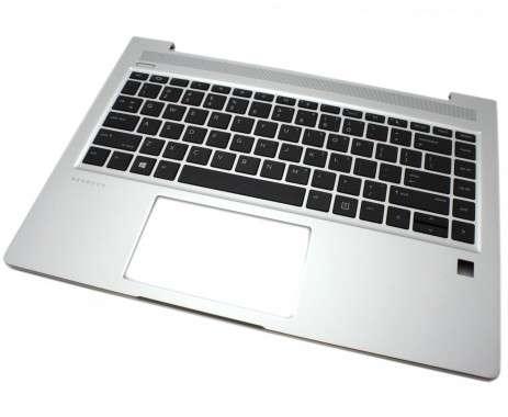 Tastatura HP ProBook 440 G6 Neagra cu Palmrest Argintiu iluminata backlit. Keyboard HP ProBook 440 G6 Neagra cu Palmrest Argintiu. Tastaturi laptop HP ProBook 440 G6 Neagra cu Palmrest Argintiu. Tastatura notebook HP ProBook 440 G6 Neagra cu Palmrest Argintiu
