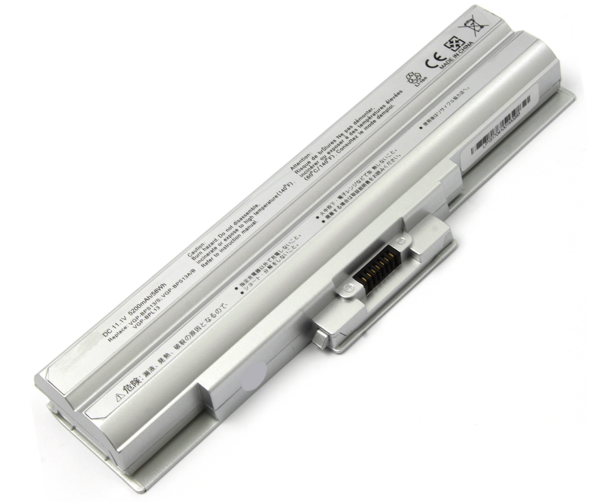 Baterie Sony Vaio VPCS13L8E B argintie imagine powerlaptop.ro 2021