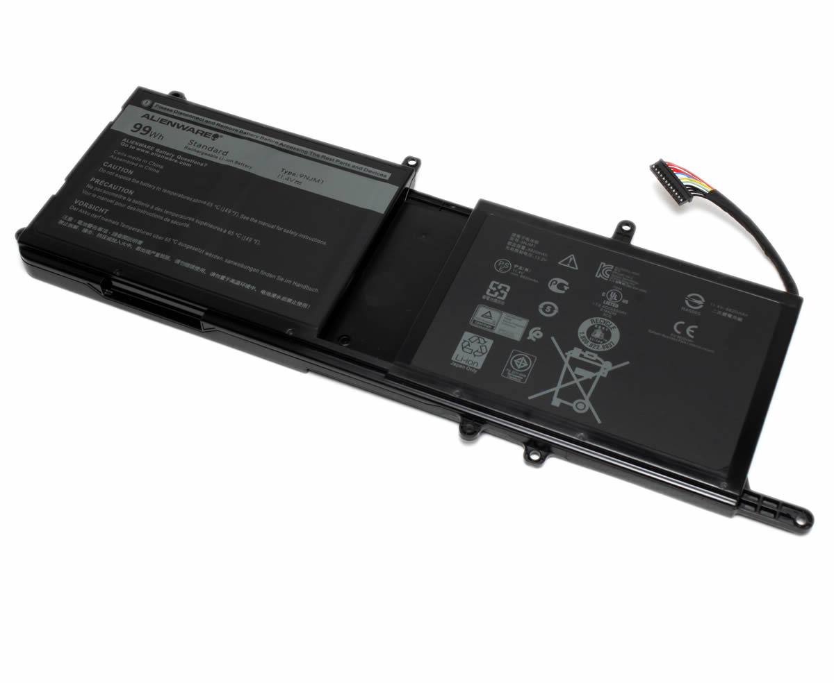 Baterie Alienware 9NJM1 Originala 99Wh imagine powerlaptop.ro 2021