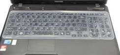 Folie Protectie Tastatura Laptop Silicon Transparenta 31 x 13 cm
