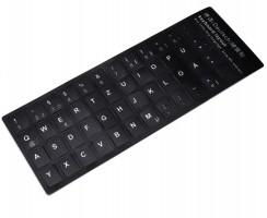 Sticker tastatura laptop layout Germana negru. Sticker taste laptop layout Germana negru